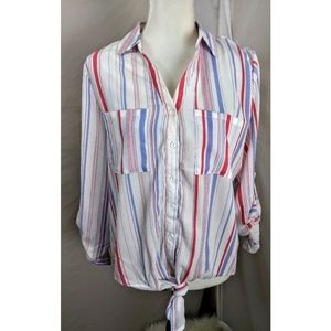 Paper Crane striped top size large